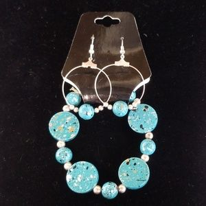 Jewelry - Turquoise, color splash, earring & bracelet set